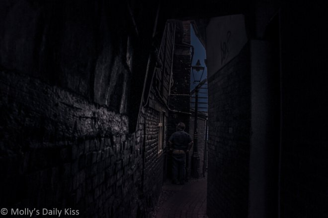Alley at Night Photo for Takeaway