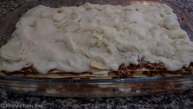 Uncooked Lasagne for Attention to Detail