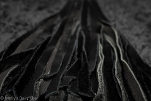 Black Flogger Tails for Toy Tour