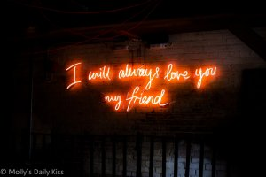 Friend neon sign for fight