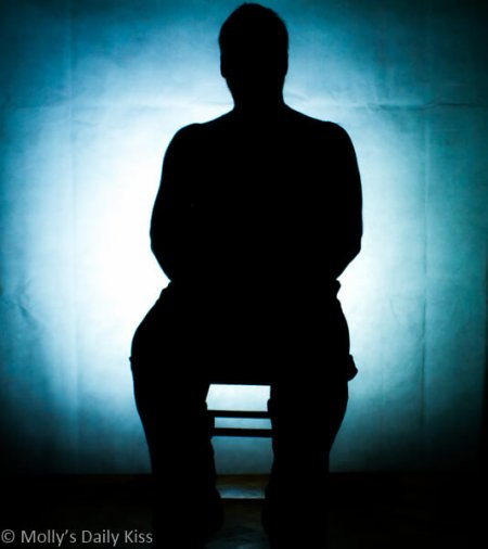Seated Male shadow for Induction