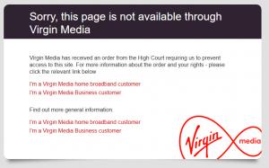 Virgin Media Screenshot for censor