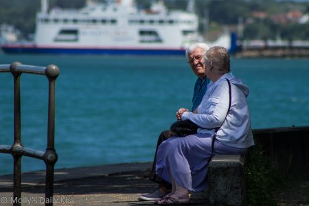 Old couple for unhappy