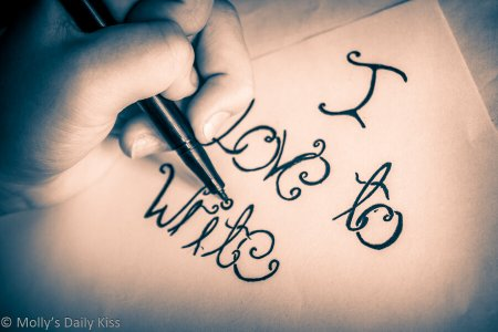 A picture of a hand writing