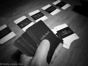 Photo of playing card for The Art of the Deal, negotiation