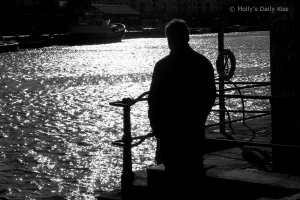 A man in the shadows for a post about childhood and my father