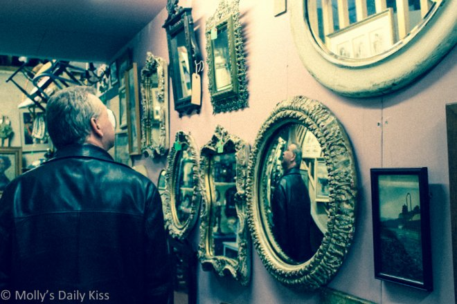 Mirrors sharing my reflection