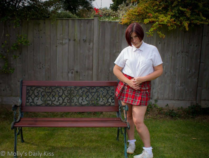 Molly as a schoolgirl for perfect submimssive
