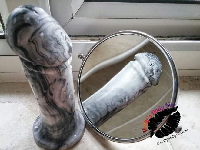 A marble adam dildo from Goedemiche for the business of sex
