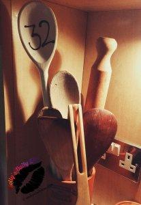 A picture of a spoon in a ceramic pot