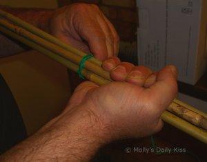 Bundling canes for DIY