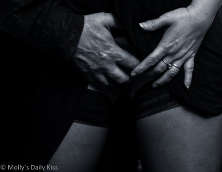 My hand up her skirt for time
