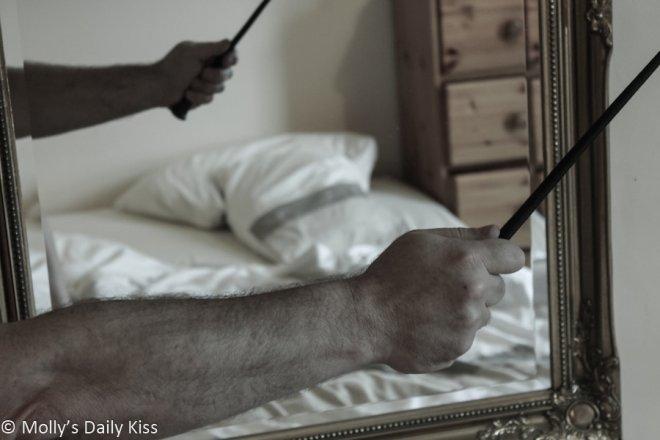 arm in mirror for unique