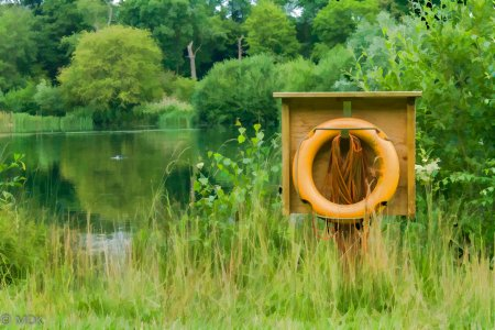 A life buoy for a post on trouble