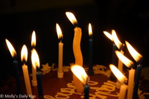 Birthday cake with candles birthdays