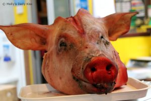 A pigs head for ugly truths