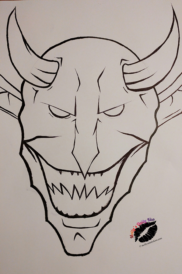 A drawing of the devil for needful things