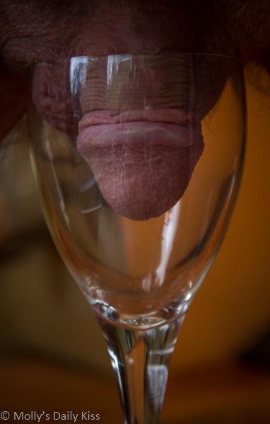 Cock in a wine glass